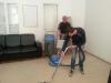 Tepovanie kobercov za pomoci kotúčového stroja